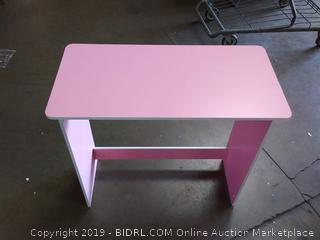 pink study desk