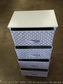 coconut 4 drawer storage unit wisteria/White