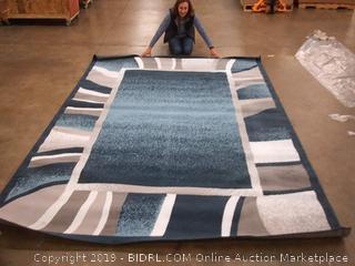 "Home Dynamix Lyndhurst Rotana Modern Area Rug, Contemporary Blue/Gray/Ivory 7'8""x10'7"""
