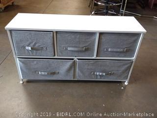 5 drawer storage unit Gray