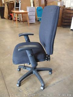 HON Network High-Back Task Chair - Computer Chair for Office Desk, Black Fabric (HVL283)