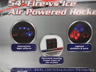 Triumph 54-inch Fire vs. ice air powered hockey table(Factory Sealed) COME PREVIEW!!!!! (online $125)