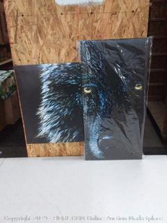 Dark wolf canvas