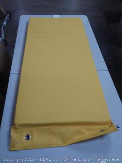 soft scape rest mat hanging yellow