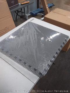 BalanceFrom Puzzle Exercise Mat with EVA Foam Interlocking Tiles, Gray (Sp0654-Sp0657)