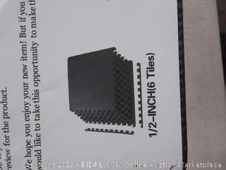 BalanceFrom Puzzle Exercise Mat with EVA Foam Interlocking Tiles, Black (copy Sp0658-Sp0663)