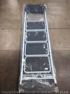 four step safety ladder with pad