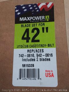 max power Blade Set for 42 in MTD / CUV Cadet / Troy-Bilt