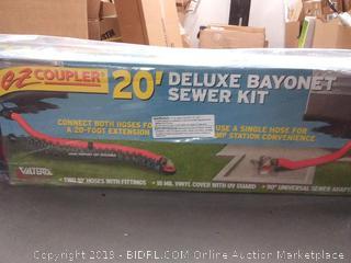 Valterra® D04-0115 - Coupler Deluxe 20' Red Bayonet Sewer Hose