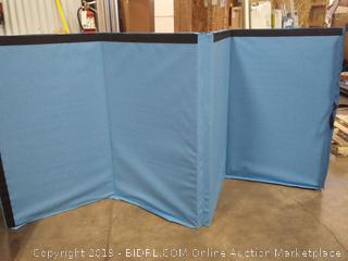 BalanceFrom GoGym All-Purpose 4'x10'x2 Extra Thick High Density Anti-Tear Gymnastics Gym Folding Exercise Aerobics Mats (Blue)