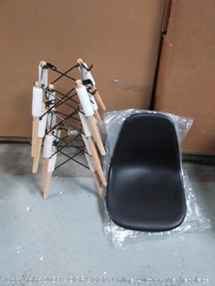set of 4 mid century black chairs