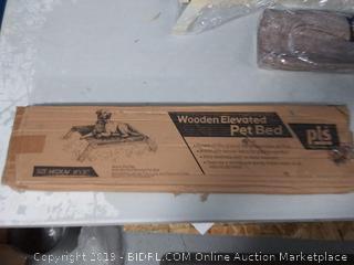 PLS pet wooden elevated pet bed