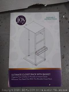 Joy ultimate closet rack with basket