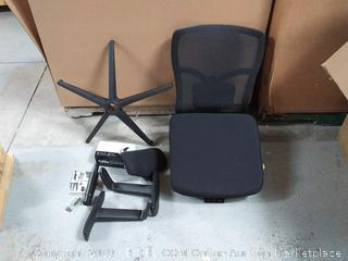 the office Oasis mesh black chair