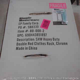 simplehouseware brand heavy duty double rod clothing rack