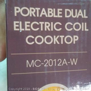the electric coil cooktop by Mega chef