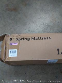 "linenspa 6"" spring mattress (TWIN?)"