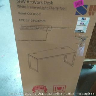 55 inch large computer desk / Cherry shw artwork desk