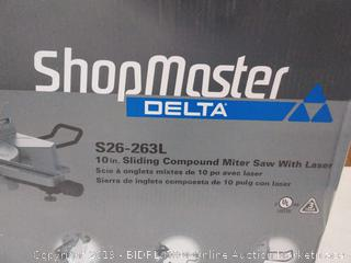 Delta Shopmaster 10 inch sliding compound miter saw with laser