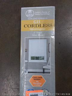 G2 cordless Morning Star 1 inch vinyl mini blind