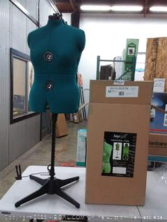 Dritz 20421 Sew-You Dressform with Tri-Pod Stand Adjustable Up to 63 Shoulder Height, Medium, Opal Green(Lobby)