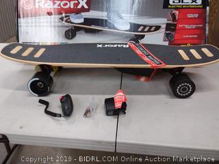 Razor RazorX DLX Electric Skateboard 845423020774