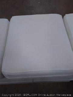 white couch cushions 3 count