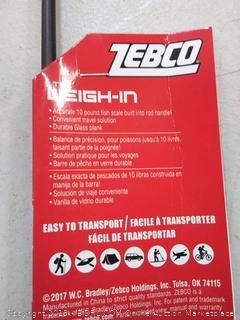 Zebco the weigh-in accurate temp lb fish scale built into rod