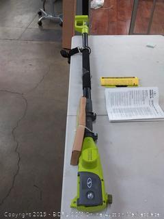 Sun Joe cordless pole chainsaw 8 in 20 volt Max