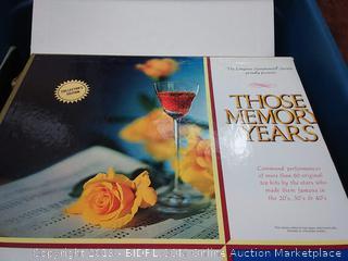 those memory years of the twenties thirties and forties
