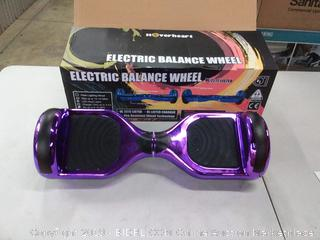 hoverboard two-wheel LED light Chrome purple