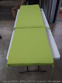Pillow Perfect Outdoor/Indoor Tweed Chaise Lounge Cushion, Lime (Online $96)
