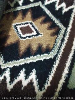 LA tribal rug Cosmos 2 foot by 4 foot