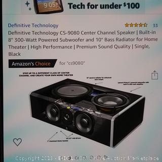 Definitive Technology CS-9080 Center Channel Speaker (990$ Retail)