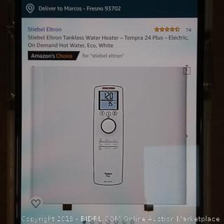 Stiebel Eltron Tankless Water Heater Tempra 24 plus ($653 Retail)