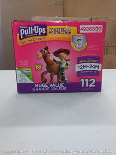 Pull-Ups Learning Designs for Girls Potty Training Pants, 12M