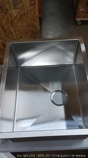MENSARJOR 23'' x 18'' Single Bowl Kitchen Sink 16 Gauge Undermount Stainless Steel Kitchen Sink, Bar or Prep Kitchen sink($159)
