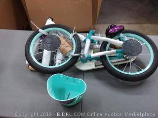 Schwinn 16in girls bicycle Elm teal