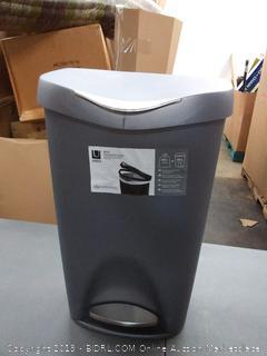 Umbria step trash can nickel 50L