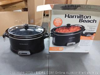 Hamilton Beach programmable slow cooker 7 quart(Powers on)
