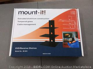 mount it professional TV mounts DVD receiver shelves