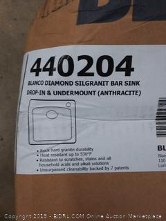 Blanco diamond silgranit Bar sink drop in and undermount