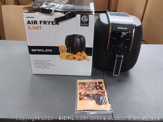 Enklov air fryer 5.5 quarts(powers on)
