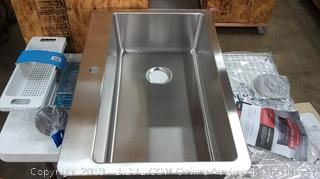 zuhnë Verona 33 True 16 gauge stainless steel premium single Bowl dual Mount sink