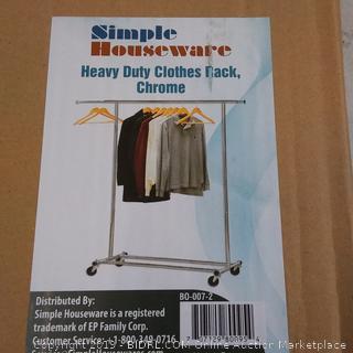 Simple Houseware Heavy Duty Clothes Rack