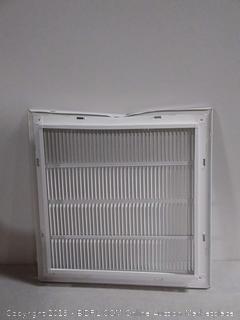 white commercial return filter grille
