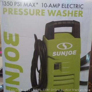 10 amp electric pressure washer Sun Joe brand 1350 PSI