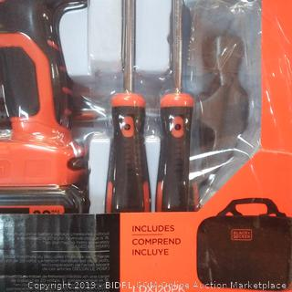 Black & Decker 68 piece project kit drill and driver