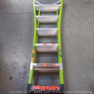 King combo Little Giant fiberglass ladder brown box
