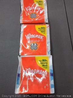 Kleenex Anti-Viral Facial Tissue 3 Pack(copy 73-79)